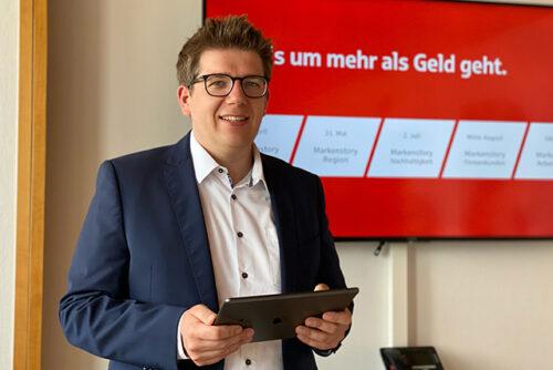 Experte für die Unternehmenskommunikation der Stadtsparkasse Augsburg: Michael Wimmer
